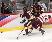 Nick Wolff (UMD - 5), Dan Molenaar (UMD -3), Colin Staub (DU - 24) - The University of Denver Pioneers defeated the University of Minnesota Duluth Bulldogs 3-2 to win the national championship on Saturday, April 8, 2017, at the United Center in Chicago, Illinois.