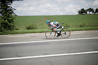 Angelo de Clercq (BEL/Marlux-Napoleon Games) 'dropping' down<br /> <br /> 69th Halle-Ingooigem 2016 (200km)