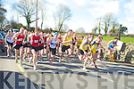 The runners leave the start line of the mens  Munster senior and novice road race championship held in Beaufort on Sunday.