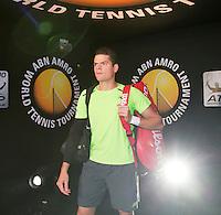 Februari 13, 2015, Netherlands, Rotterdam, Ahoy, ABN AMRO World Tennis Tournament, Milos Raonic (CAN)<br /> Photo: Tennisimages/Henk Koster