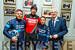 Cycling for Changing Diabetes at the SRAC and the Chain Gang Cycling Club Atlantic Challenge road race at the Rose Hotel on Saturday. L to r: Quentin Valognes, Patrick Breen, Romain Gioux and Mark O'Sullivan (Rose Hotel).