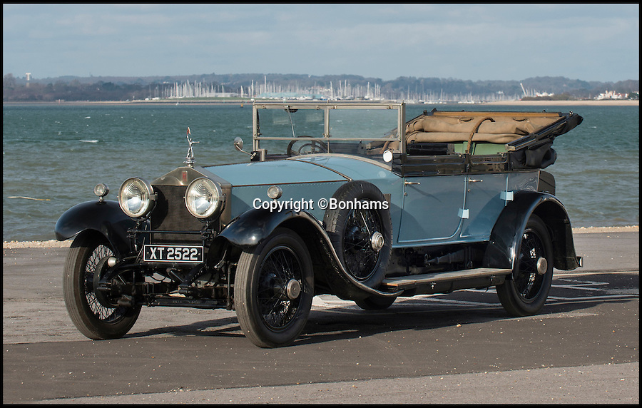 BNPS.co.uk (01202 558833)<br /> Pic: Bonhams/BNPS<br /> <br /> A customised Rolls-Royce made for Lord Mountbatten that left the prestigious manufacturers furious has emerged for sale at £230,000. <br /> <br /> The firm struck off the guarantee for the 1924 Silver Ghost after he ordered the removal of the iconic Spirit of Ecstasy mount and replaced it with a naval signaller, semaphoring the letter 'M'.<br /> <br /> This unusual request means it is one of the few Rolls-Royces without the logo and appears at auction after being restored by the National Motor Musuem and being exhibited at Sandringham Palace.