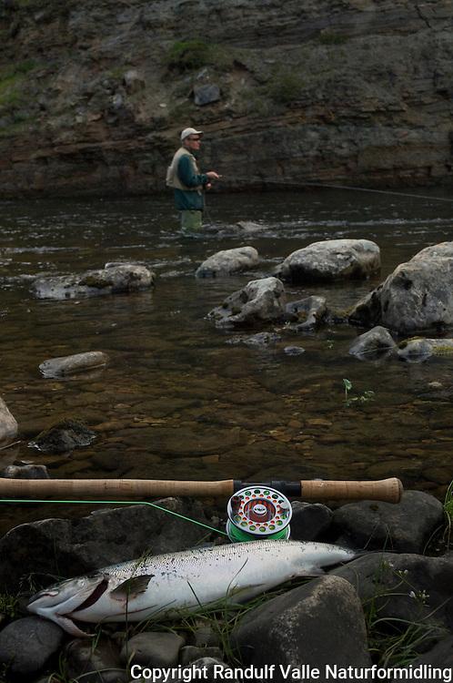 Fisker i Jakobselva ---- Angler in Jakobselva