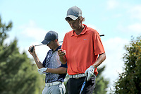 Scott Hellier and Tom Parker during the New Zealand Amateur Golf Championship at Russley Golf Course, Christchurch, New Zealand. Friday 3 November 2017. Photo: Martin Hunter/www.bwmedia.co.nz