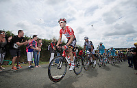 Lars Bak (DEN/Lotto-Belisol) pacing the peloton <br /> <br /> 2014 Tour de France<br /> stage 4: Le Touquet-Paris-Plage/Lille M&eacute;tropole (163km)