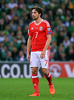 Joe Allen of Wales in action during the FIFA World Cup Qualifier Group D match between Wales and Republic of Ireland at The Cardiff City Stadium, Wales, UK. Monday 09 October 2017
