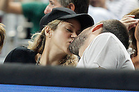 Gerard Pique and his wife colombian singer Shakira during 2014 FIBA Basketball World Cup