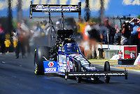 May 21, 2011; Topeka, KS, USA: NHRA top fuel dragster driver Antron Brown during the Summer Nationals at Heartland Park Topeka. Mandatory Credit: Mark J. Rebilas-