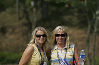 Caroline Harrington and Mrs Flood during the opening fourball at the 37th Ryder Cup at Valhalla Golf Club, Louisville, Kentucky, USA - 19th September 2008 (Photo by John Hetherton/GOLFFILE)