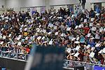 02.12.2017,  Hamburg GER, VBL, SVG Lueneburg vs United Volleys Rhein-Main  im Bild Feature die Lueneburger Fans zeigen den Block / Foto © nordphoto / Witke