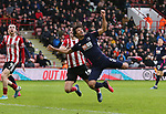 John Egan of Sheffield Utd and Nathan Ake of Bournemouth in action during the Premier League match at Bramall Lane, Sheffield. Picture date: 9th February 2020. Picture credit should read: Chloe Hudson/Sportimage