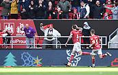 4th November 2017, Ashton Gate, Bristol, England; EFL Championship football, Bristol City versus Cardiff City; Aden Flint of Bristol City celebrates scoring Bristol City's second goal