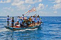 Festa de Sao Pedro dos Pescadores em Fernando de Noronha. PE. 2009. Foto de Ana Druzian.
