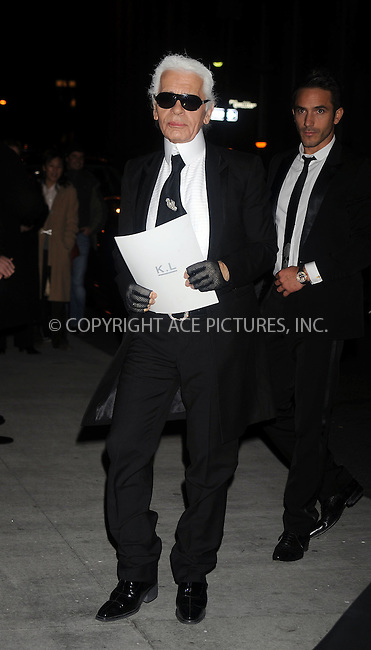 WWW.ACEPIXS.COM . . . . . ....October 23 2008, New York City....Karl Largerfeld arriving at the 25th annual Night of Stars hosted by Fashion Group International at Cipriani Wall Street on October 23, 2008 in New York City.....Please byline: KRISTIN CALLAHAN - ACEPIXS.COM.. . . . . . ..Ace Pictures, Inc:  ..(646) 769 0430..e-mail: info@acepixs.com..web: http://www.acepixs.com