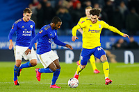 4th March 2020; King Power Stadium, Leicester, Midlands, England; English FA Cup Football, Leicester City versus Birmingham City; Scott Hogan of Birmingham City attempts to beat Ricardo Pereira of Leicester City