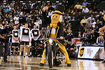 24 February 2016: The Wake Forest Demon Deacon rode a motorcycle onto the court during player introductions. The Wake Forest University Demon Deacons hosted the University of Notre Dame Fighting Irish at Lawrence Joel Veterans Memorial Coliseum in Winston-Salem, North Carolina in a 2015-16 NCAA Division I Men's Basketball game. Notre Dame won the game 69-58.