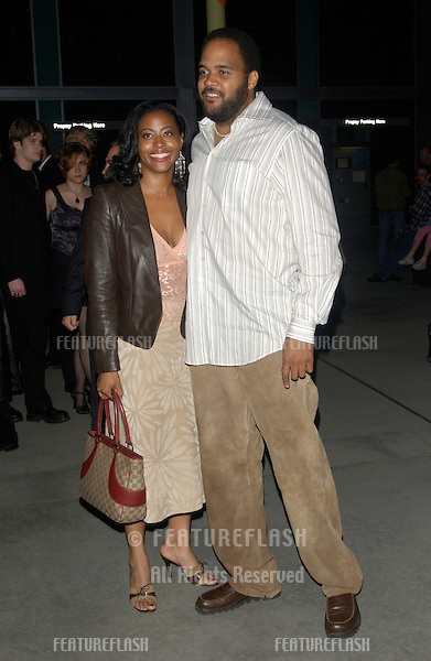 Actor VICTOR WILLIAMS & girlfriend NICHELLE HEINZ at the world premiere of Shade, in Hollywood..April 6, 2004