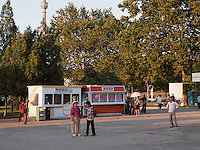 Imbiss in Pyongyang, Nordkorea, Asien<br /> snack stall, Pyongyang, North Korea, Asia