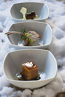 Europe/Italie/Trentin Haut-Adige/Dolomites/Alta Badia/ San Cassiano: Cochon de lait croustillant Recette de Norbert Niederkofler chef du Restaurant St Hubertus à l'Hotel Rosa Alpina
