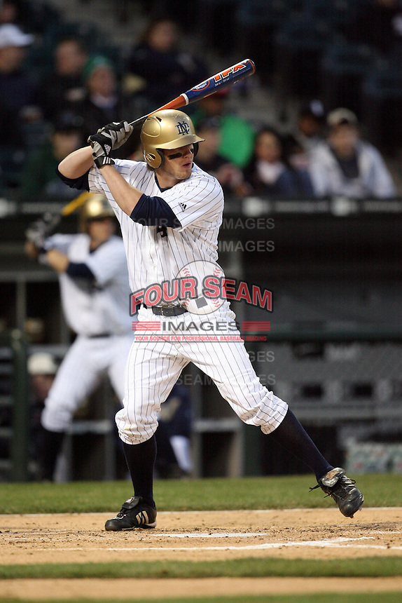 April 15, 2009: Billy Broockford (17) of the Notre Dame Fighting Irish at US Cellular Field in Chicago, IL.  Photo by: Chris Proctor/Four Seam Images