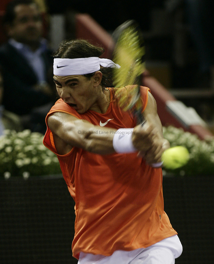 Photo: Barry Bland..Madrid Masters. .20/10/2005..Rafael Nadal (ESP)