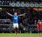 Martyn Waghorn celebrates his first goal of the night