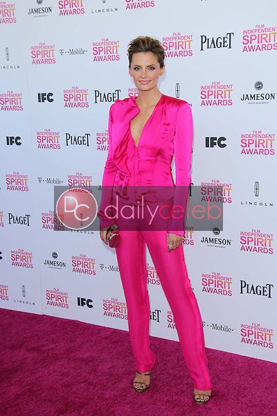 Stana Katic<br /> at the 2013 Film Independent Spirit Awards, Private Location, Santa Monica, CA 02-23-13<br /> David Edwards/DailyCeleb.com 818-249-4998