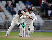 7th September 2017, Emirates Old Trafford, Manchester, England; Specsavers County Championship, Division One; Lancashire versus Essex; Adam Wheater of Essex takes a quick single as Jos Buttler looks on