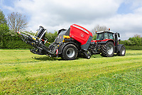Baling silage<br /> ©Tim Scrivener Photographer 07850 303986<br />      ....Covering Agriculture In The UK....