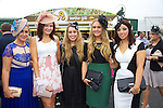Enjoying Ladies Day at the Listowel Races on Friday were: Jennifer Kennelly, Regina Galvin, Rebecca Mulvihill, Michelle Kennelly and Niamh Walsh from Moyvane