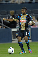 Michael Lahoud (13) midfield Philadelphia Union..Sporting Kansas City defeated Philadelphia Union 2-1 at LIVESTRONG Sporting Park, Kansas City, KS.