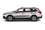 Car Driver side profile view of a 2019 Subaru Outback Premium 5 Door Wagon Side View