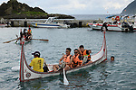 Orchid Island (蘭嶼), Taiwan -- Boat practice for the islandwide boat race on Aug. 05, 2017.