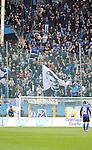 Die Fans des SV Waldhof  beim Spiel SV Waldhof Mannheim - TSV Steinbach.<br /> <br /> Foto © PIX-Sportfotos *** Foto ist honorarpflichtig! *** Auf Anfrage in hoeherer Qualitaet/Aufloesung. Belegexemplar erbeten. Veroeffentlichung ausschliesslich fuer journalistisch-publizistische Zwecke. For editorial use only.