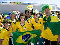 Brazil fans outside the Stadium Arena Corinthians