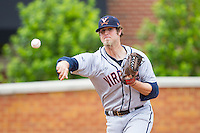 Virginia Cavaliers relief pitcher Austin Young (39) warms up in the bullpen during the game against the Wake Forest Demon Deacons at Wake Forest Baseball Park on May 17, 2014 in Winston-Salem, North Carolina.  The Demon Deacons defeated the Cavaliers 4-3.  (Brian Westerholt/Four Seam Images)
