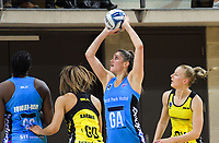 Te Paea Selby-Rickit shoots for goal during the ANZ Premiership netball match between the Central Pulse and Northern Stars at Te Rauparaha Arena in Wellington, New Zealand on Wednesday, 24 May 2017. Photo: Dave Lintott / lintottphoto.co.nz