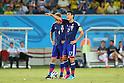 (L to R) <br /> Keisuke Honda, <br /> Makoto Hasebe (JPN), <br /> JUNE 19, 2014 - Football /Soccer : <br /> 2014 FIFA World Cup Brazil <br /> Group Match -Group C- <br /> between Japan 0-0 Greece <br /> at Estadio das Dunas, Natal, Brazil. <br /> (Photo by YUTAKA/AFLO SPORT)