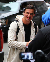 www.acepixs.com<br /> <br /> January 18 2017, New York City<br /> <br /> Olympic swimmer Ryan Lochte signs for fans as he leaves a downtown hotel on January 18 2017 in New York City<br /> <br /> By Line: Zelig Shaul/ACE Pictures<br /> <br /> <br /> ACE Pictures Inc<br /> Tel: 6467670430<br /> Email: info@acepixs.com<br /> www.acepixs.com