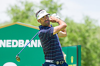 Alvaro Quiros (ESP) on the 18th tee during the first round at the Nedbank Golf Challenge hosted by Gary Player,  Gary Player country Club, Sun City, Rustenburg, South Africa. 14/11/2019 <br /> Picture: Golffile | Tyrone Winfield<br /> <br /> <br /> All photo usage must carry mandatory copyright credit (© Golffile | Tyrone Winfield)