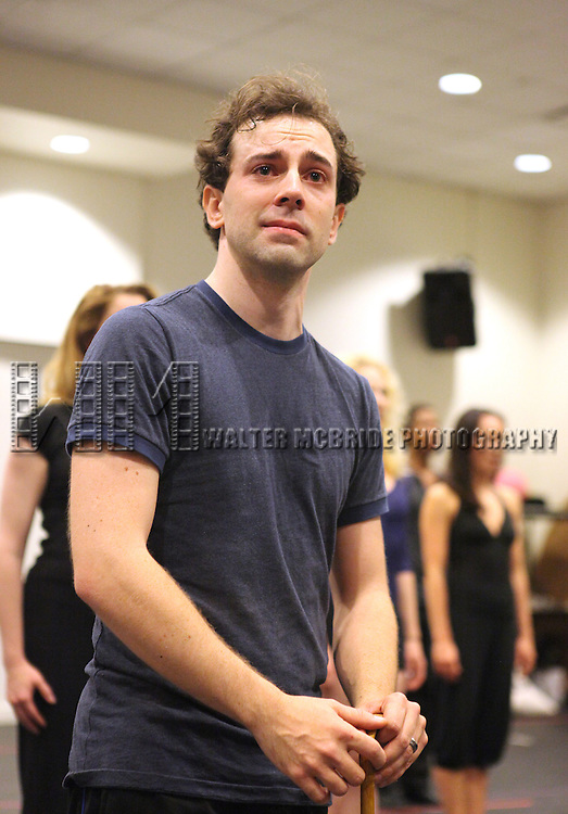 Rob McClure & Zachary Unger .performing in the Press Preview of the New Broadway Show 'Chaplin The Musical'  at Foxwoods Theater Rehearsal Studios on August 7, 2012 in New York City.