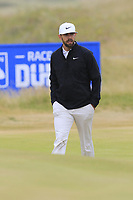 Erik Van Rooyen (RSA) on the 1st green during Saturday's Round 3 of the 2018 Dubai Duty Free Irish Open, held at Ballyliffin Golf Club, Ireland. 7th July 2018.<br /> Picture: Eoin Clarke | Golffile<br /> <br /> <br /> All photos usage must carry mandatory copyright credit (&copy; Golffile | Eoin Clarke)