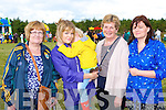 Noreen, Katie and Luke O'Connor, Mary Howard and Maura O'Connor at the Treshing for Cancer in Beaufort on Sunday