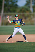 Radek Birkholz during the WWBA World Championship at the Roger Dean Complex on October 19, 2018 in Jupiter, Florida.  Radek Birkholz is a right handed pitcher from Highlands Ranch, Colorado who attends Valor Christian High School.  (Mike Janes/Four Seam Images)