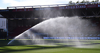 22nd July 2020; Ashton Gate Stadium, Bristol, England; English Football League Championship Football, Bristol City versus Preston North End; Preston North End players warm up under the sprinklers