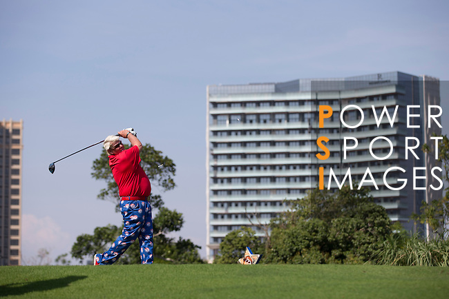 John Daly plays during the World Celebrity Pro-Am 2016 Mission Hills China Golf Tournament on 22 October 2016, in Haikou, China. Photo by Victor Fraile / Power Sport Images