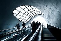 Nederland  Eindhoven 2015. Ondergrondse fietsenstalling in het centrum van Eindhoven. Foto Berlinda van Dam / Hollandse Hoogte