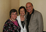 """OLTL's Thom Christopher """"Carlo""""  poses with his wife Judith and friend at the One Life To Live Fan Club Luncheon on August 16, 2008 at the New York Marriott Marquis, New York, New York.  (Photo by Sue Coflin/Max Photos)"""