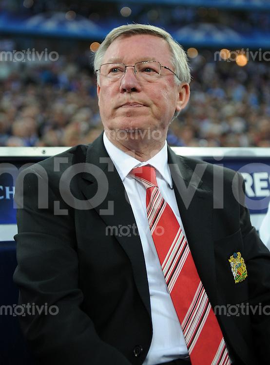 FUSSBALL   CHAMPIONS LEAGUE   SAISON 2010/2010   HALBFINALE FC Schalke 04 - Manchester United                                26.04.2011 Trainer Sir Alex Ferguson (Manchester)