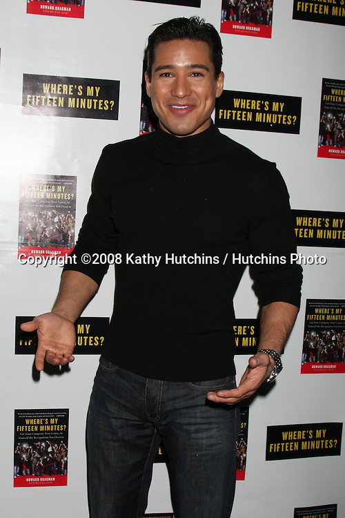 "Mario Lopez.Howard Bragman's Book Party for ""Where's My Fifteen Minutes"" at the Chateau Marmont Hotel in West Los Angeles, CA on .January 14, 2009.©2008 Kathy Hutchins / Hutchins Photo..                ."